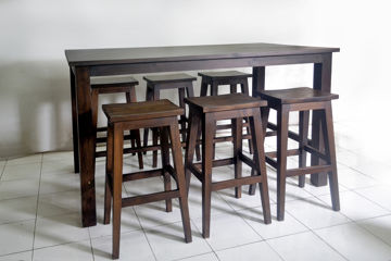 Communal dining furniture custom made for Singaporean clients