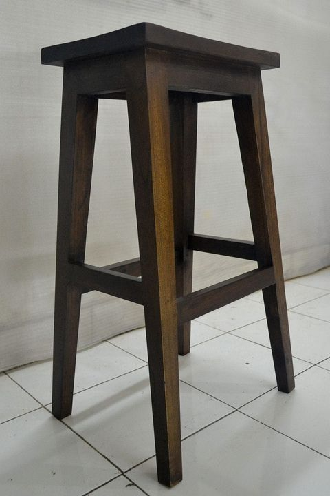 Communal barstool upholstered seat and backres