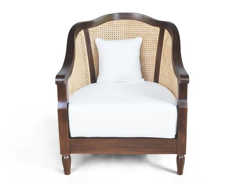 Solid wood apron and seat cushion detail