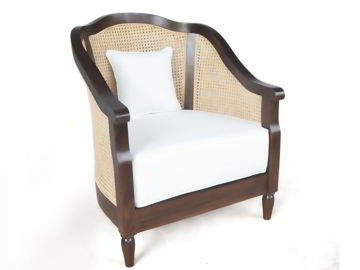 Ima wood chair left front full view