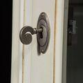 Glass door lock detail