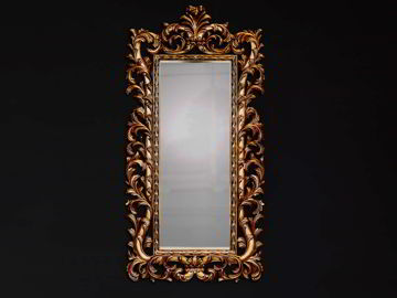 Acanthus carving wall mirror full view