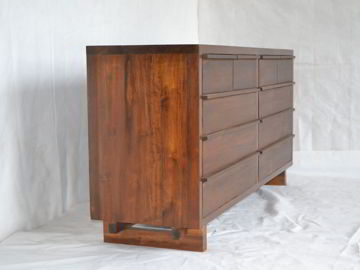 Wooden drawers pull detail