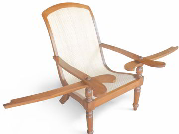 Rattan seat and back rest detail