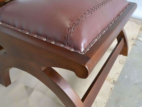 Applying leather to the seat