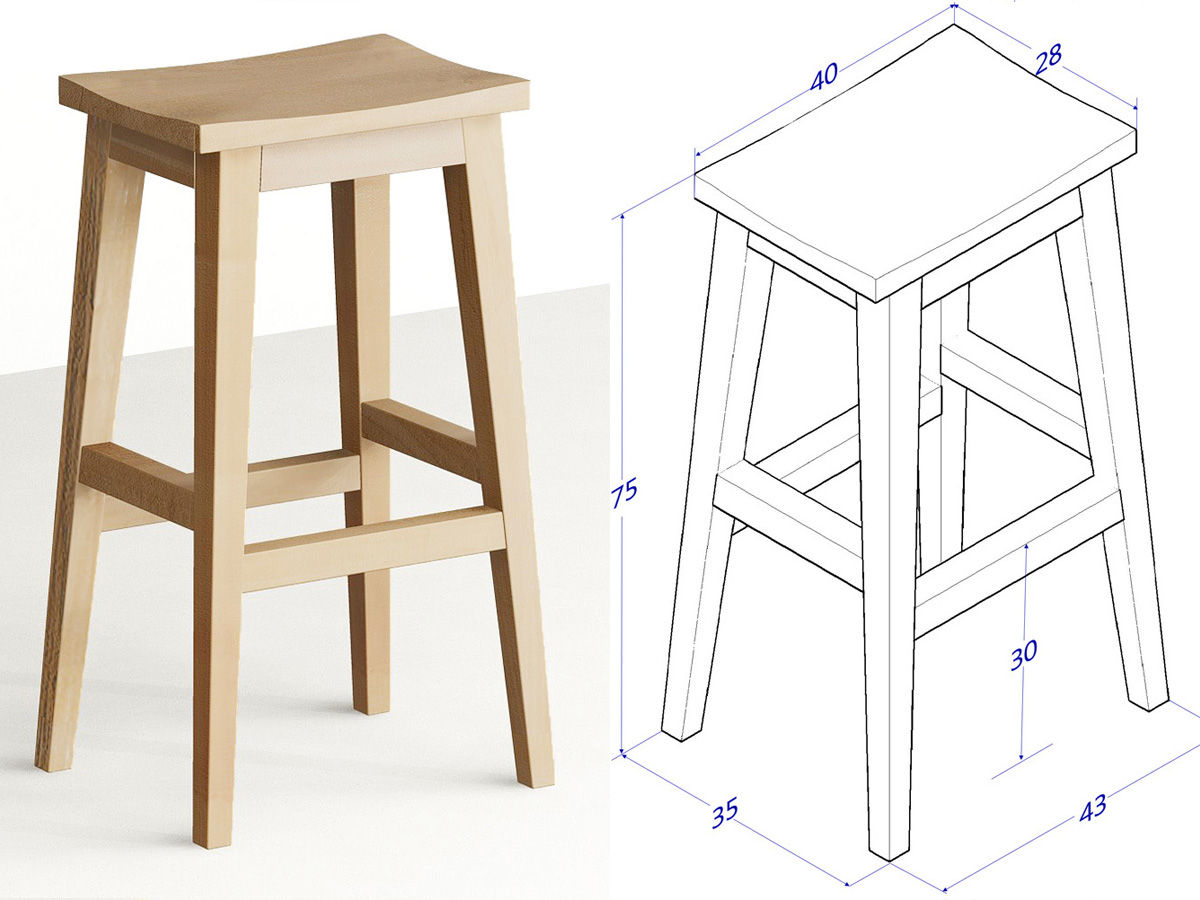 Communal simple stool plans