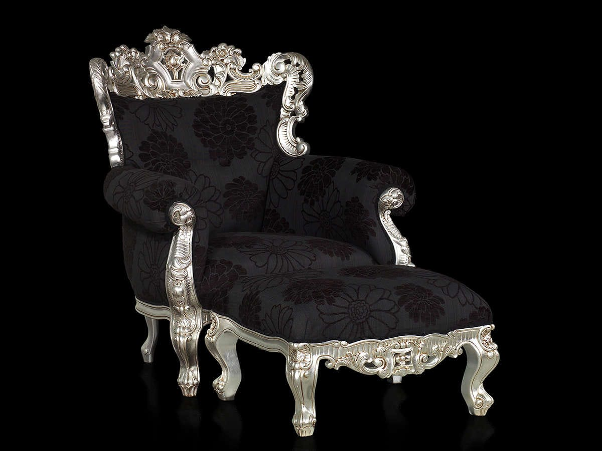 Rococo Chair and Ottoman