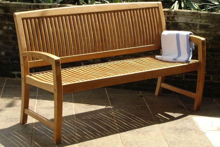 Afton garden bench teak