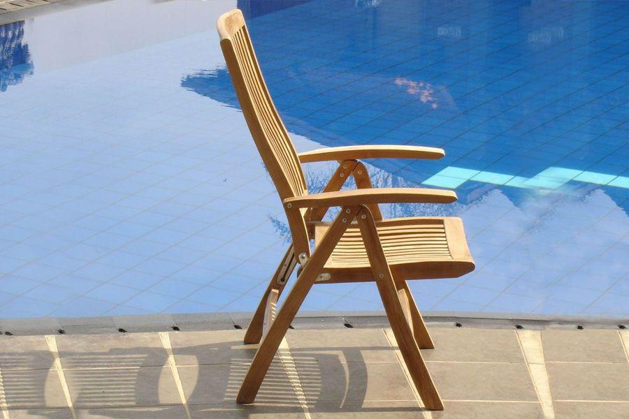 Afton reclining seat teak wood