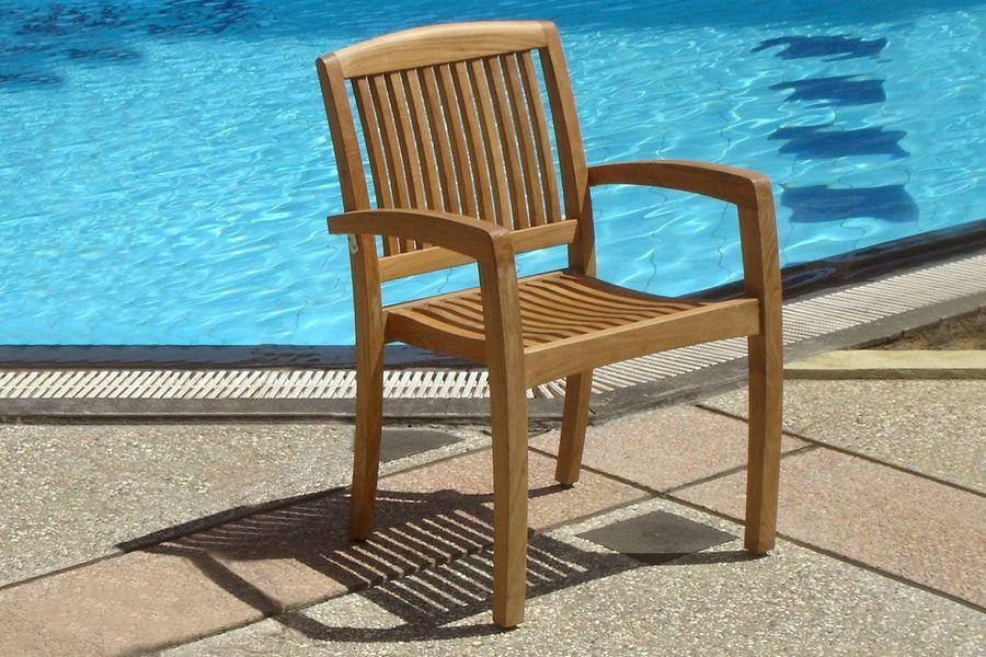 Afton teak stacking chair