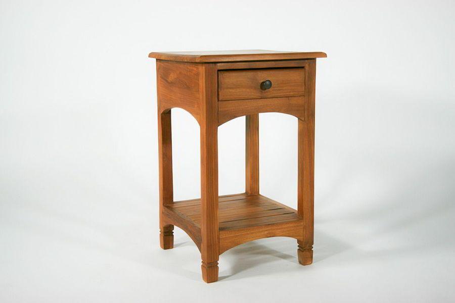 Teak wood bedside table 1 drawer